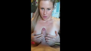 CHEATING GIRLFRIEND SUCKS AND TITFUCKS BIGGER COCK