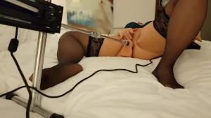 SEX MACHINE – Wife Cums **LOUD** Masturbation!! – Dildo Fuck